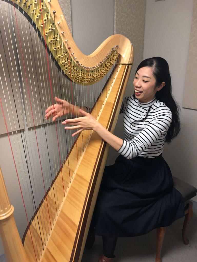 ハープ演奏家福田恭子
